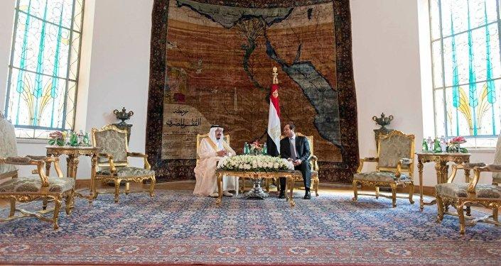 Le roi saoudien Salmane ben Abdelaziz Al Saoud et le président égyptien Abdel Fattah al-Sissi,le Caire, Avril 7, 2016