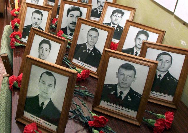 Une cérémonie en mémoire des victimes du naufrage du Koursk en Russie