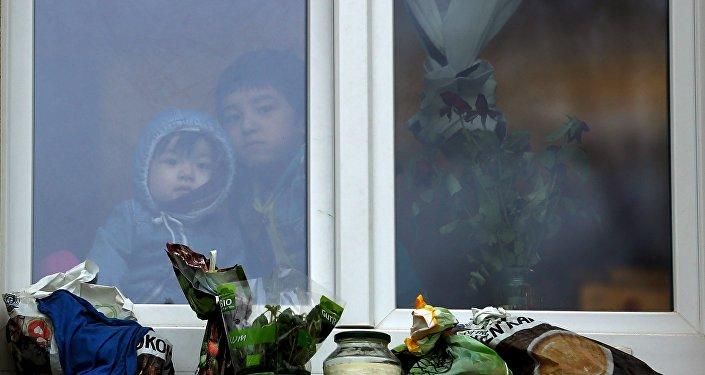 Réfugiés mineurs. Camp de réfugiés. Allemagne