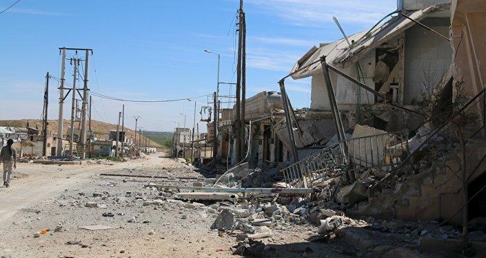 Région d'Alep dévastée par la guerre