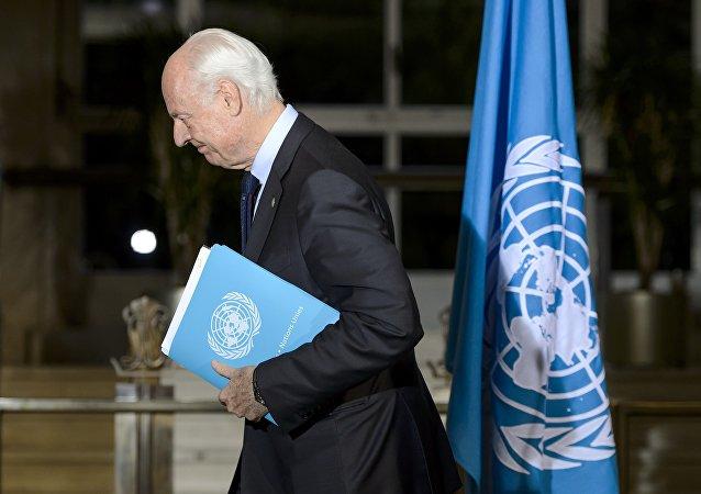Le représentant spécial du Secrétaire général de l'Onu pour la Syrie Staffan de Mistura