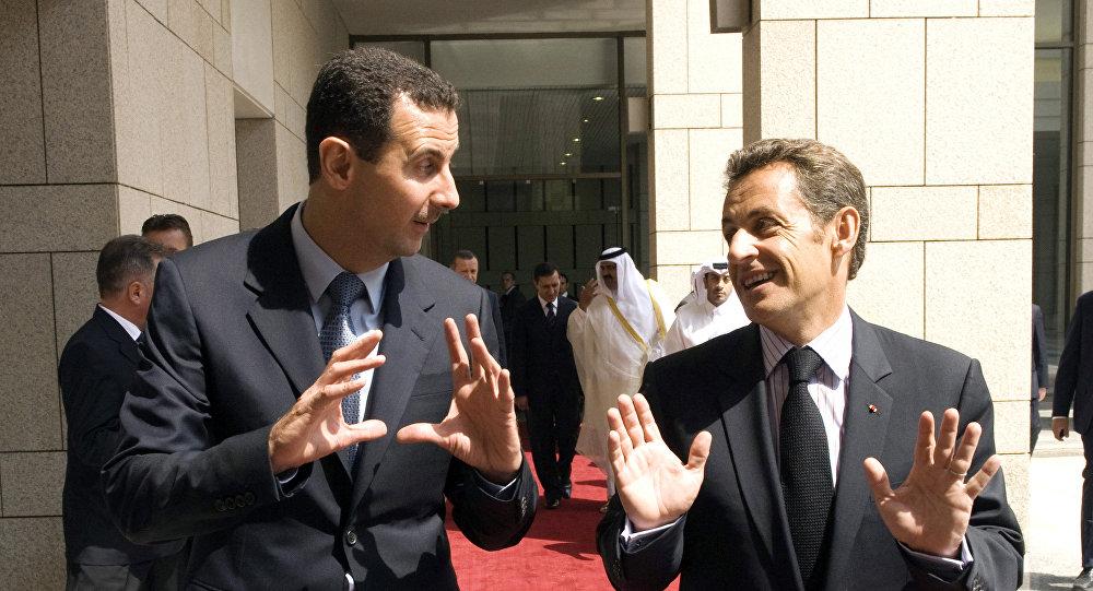 Assad et Sarkozy