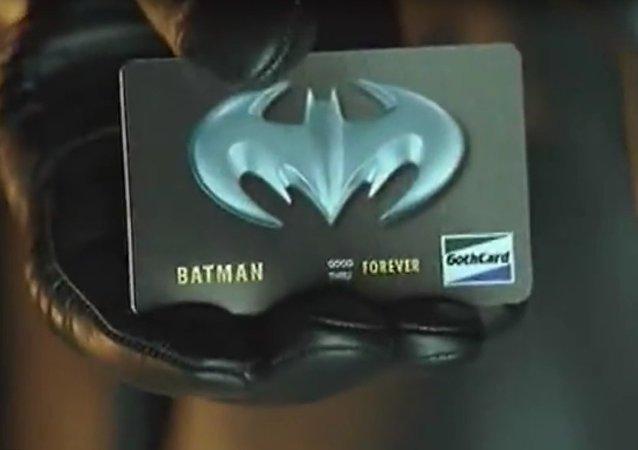 La carte bancaire de Batman ne relève plus de la fiction
