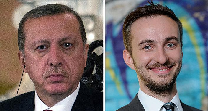 Recep Tayyip Erdogan et Jan Böhmermann
