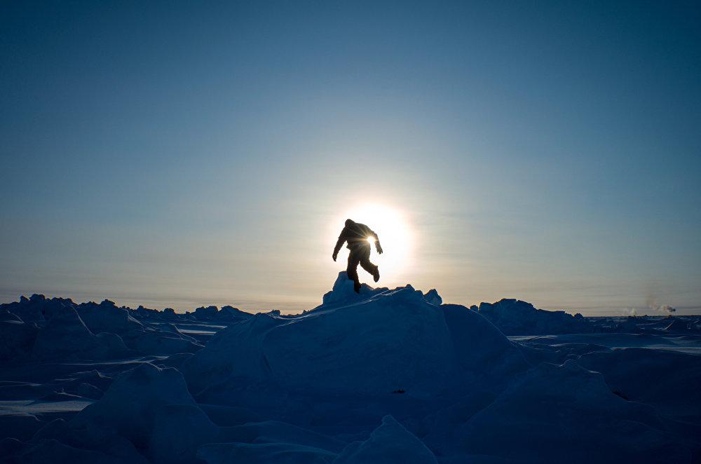 La base arctique russe Barneo