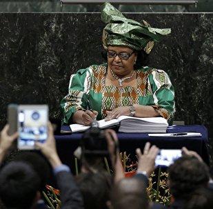 Edna Molewa, ministre sud-africaine des affaires environnementales