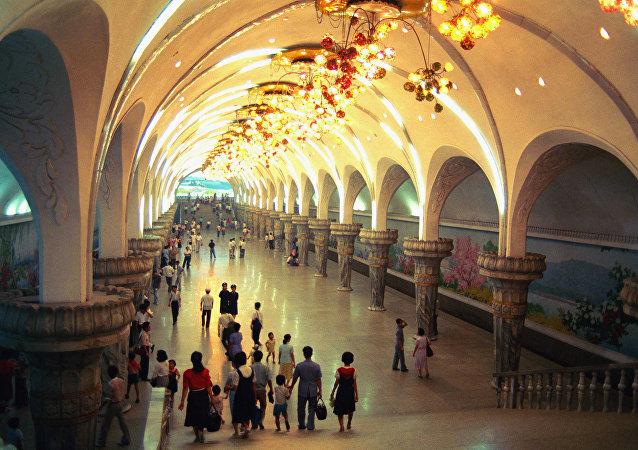 Le métro de Pyongyang