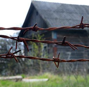 Maison abandonnée après la catastrophe de Tchernobyl