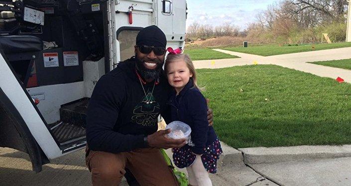 Le geste touchant d'une fillette de trois ans envers son éboueur préféré