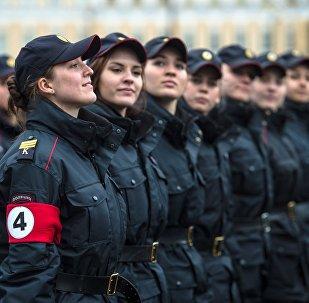 A Saint-Pétersbourg, première répétition en vue de la Parade de la Victoire