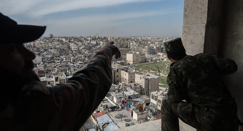 Soldats de l'armée syrienne à Alep