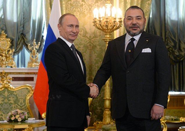 Visite du roi du Maroc Mohamed VI en Russie le 15 mars 2016