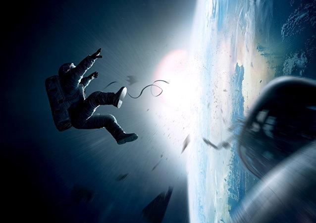 Un astronaute dans l'espace, image d'illustration