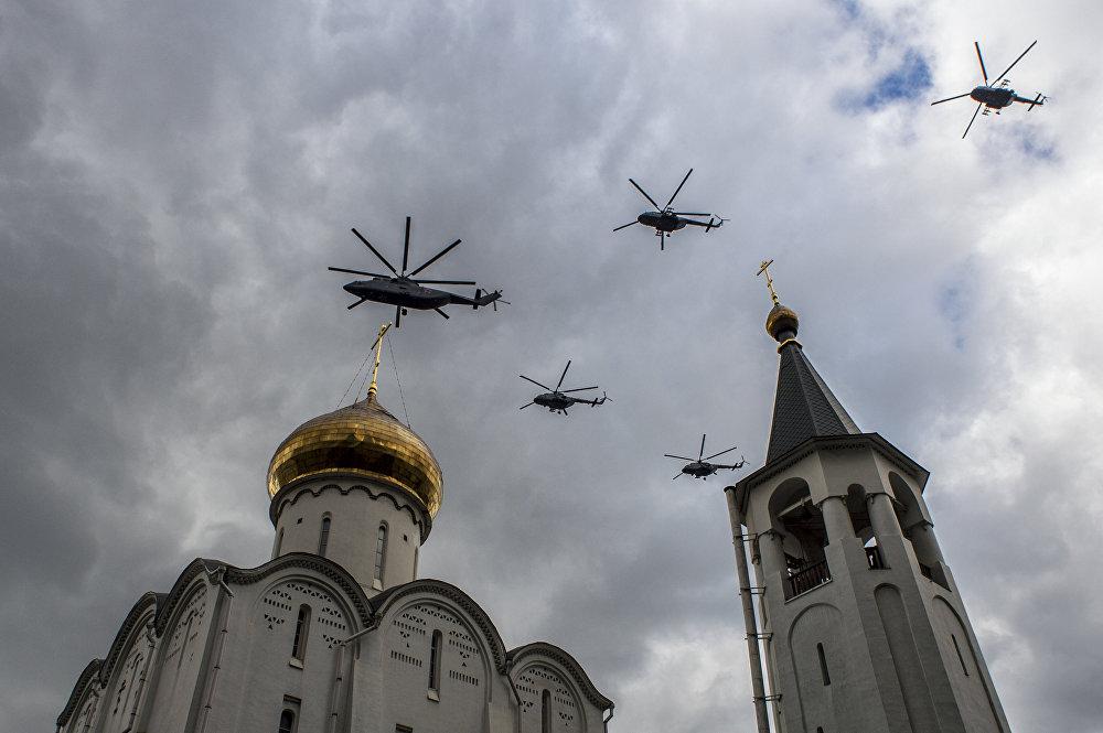 La 1ere répétition aérienne de la parade de la Victoire au-dessus de Moscou