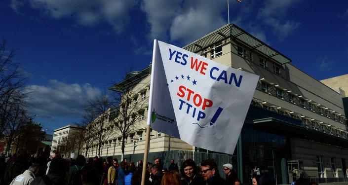 Manifestation anti-TTIP à  Berlin