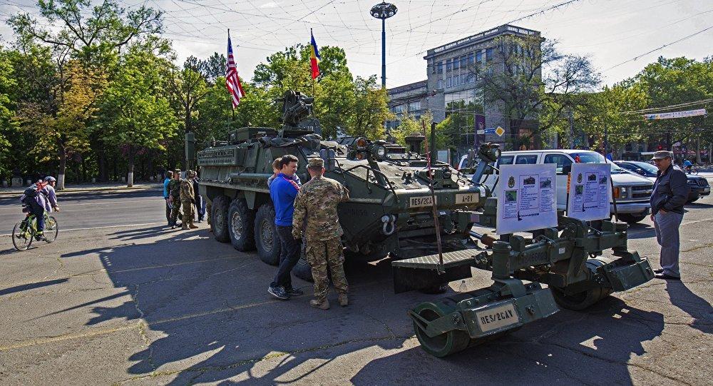 Matériels militaires américains à Chisinau