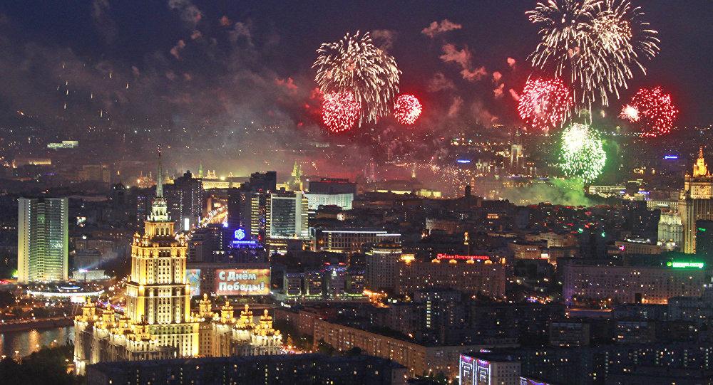 10.000 feux d'artifice dans le ciel de Moscou