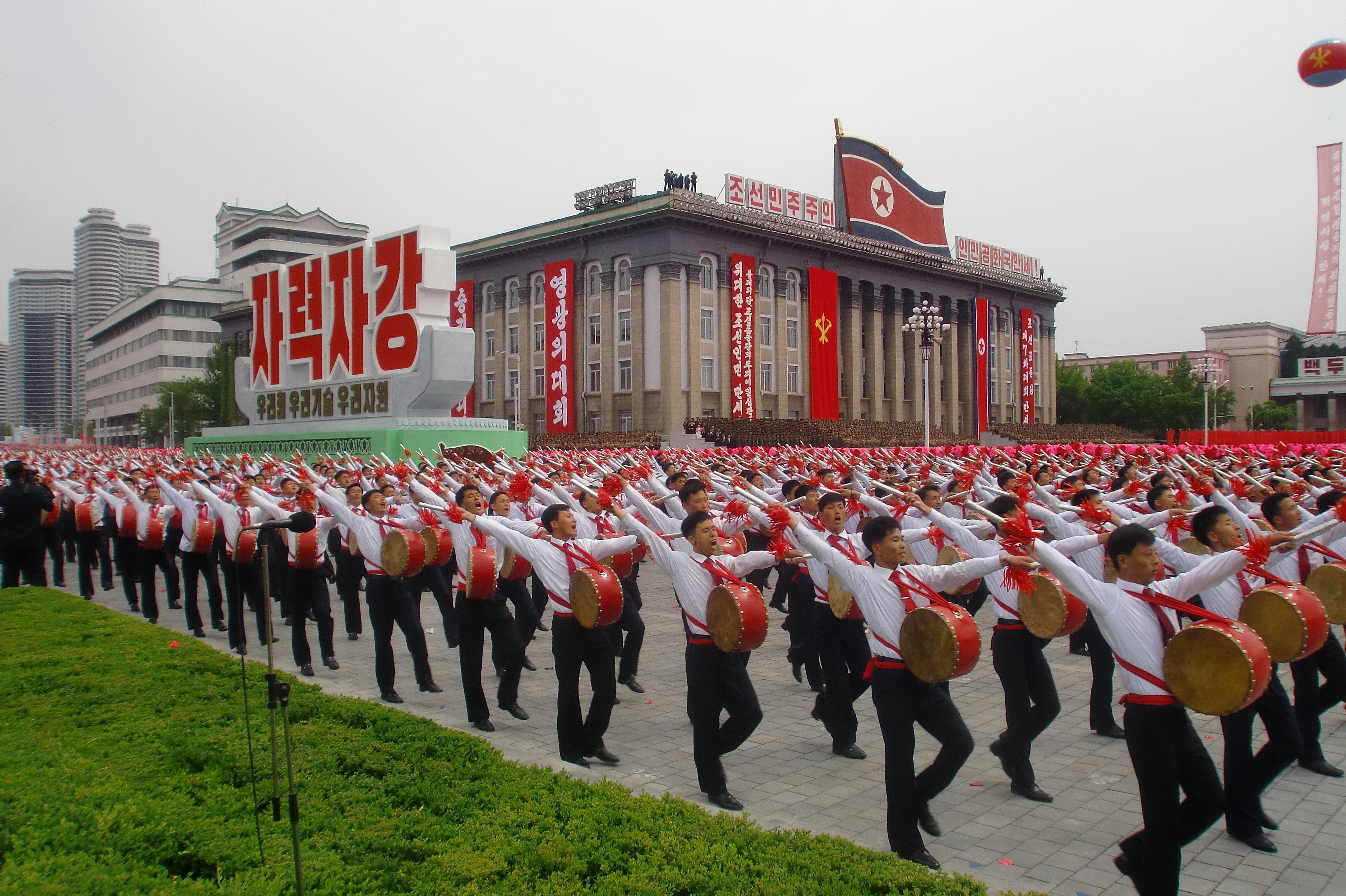 Un corps de musique militaire nord-coréen
