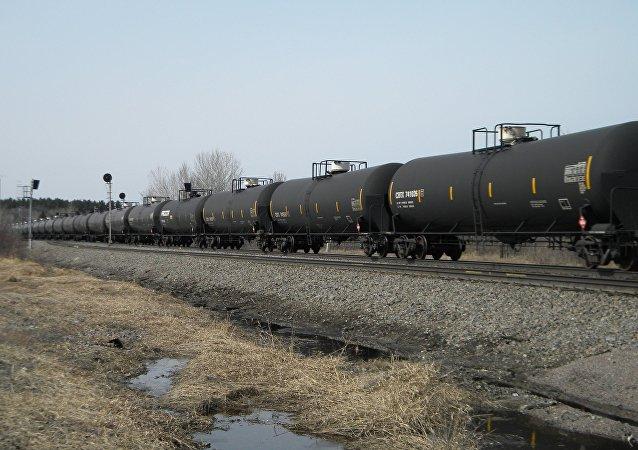 Exportation pétrolière. Image d'illustration