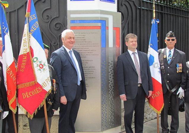 Une plaque commémorative du débarquement russe de 1916 inaugurée à Marseille