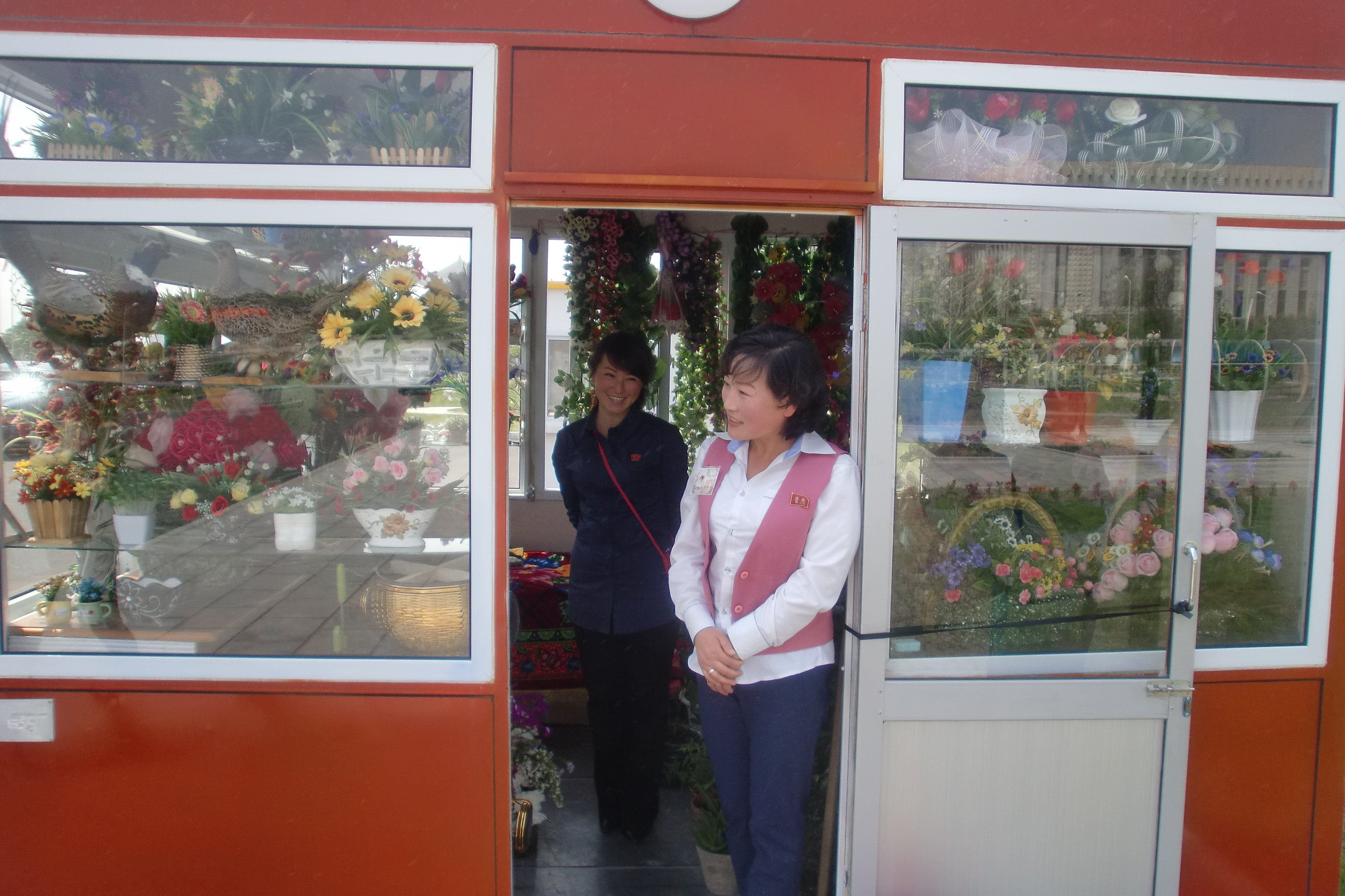 Un kiosque à Pyongyang