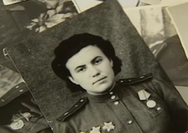 Irina Rakobolskaïa quand elle faisait partie du légendaire régiment des sorcières nocturnes