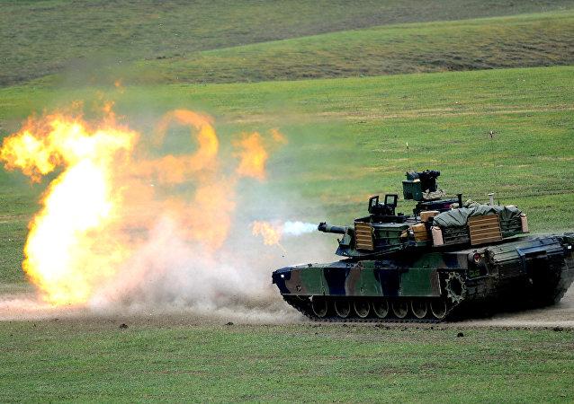 Tank américain. Image d'illustration