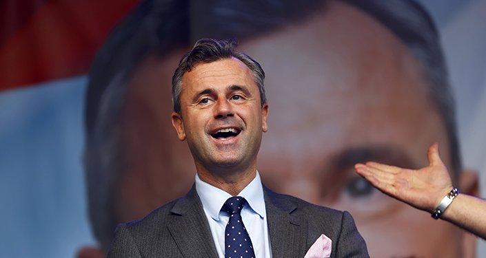Le candidat de droite à la présidentielle autrichienne, Norbert Hofer
