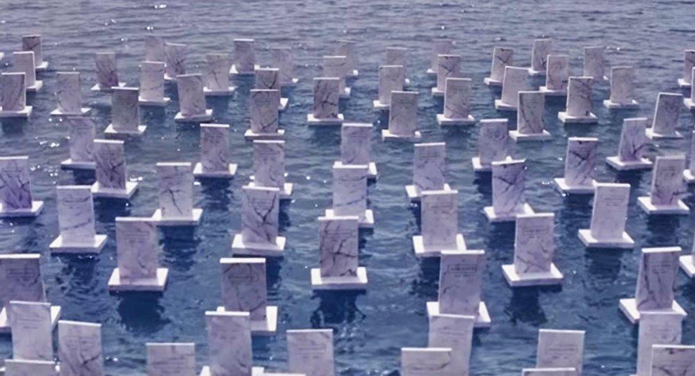 Un cimetière flottant en hommage aux migrants morts noyés en Méditerranée
