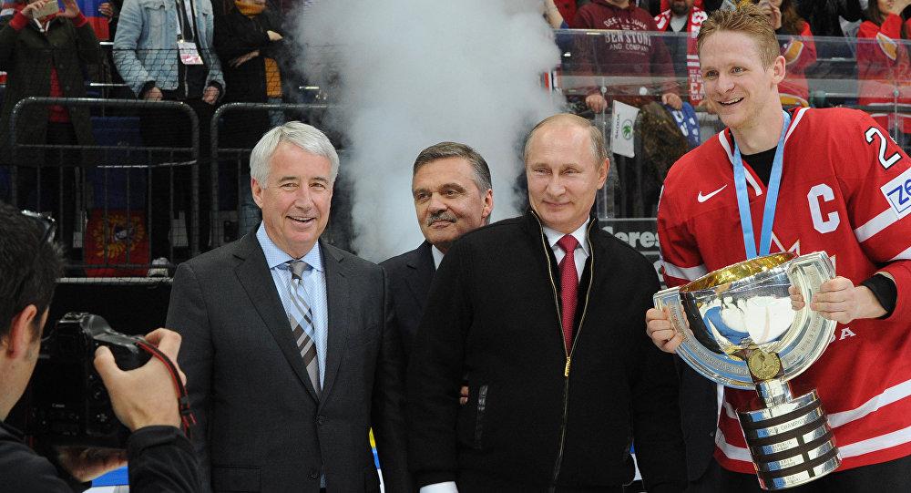 Vladimir Poutine a assisté à la finale du championnat du monde de hockey