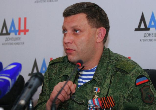 Le premier ministre de la République populaire de Donetsk Alexandre Zakhartchenko