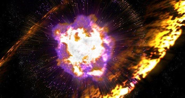 Une galaxie naine dévoile les origines de l'or. Image d'illustration