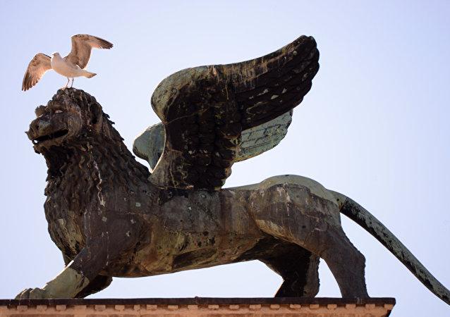 Le lion de Saint-Marc, symbole de Venise