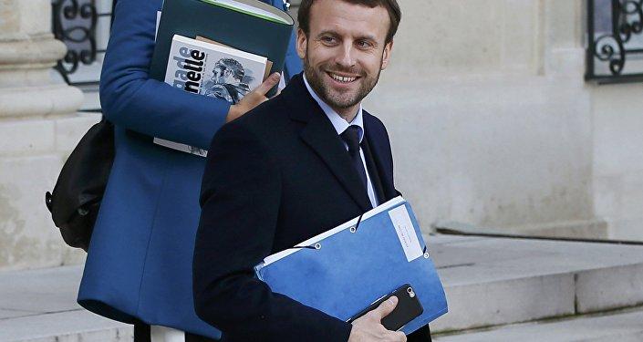 Emmanuel Macron, ministre français de l'Economie