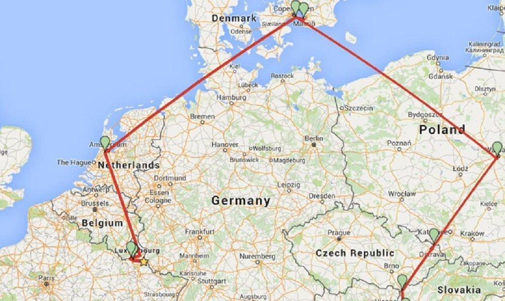 Il visite 12 pays européens en 24 heures