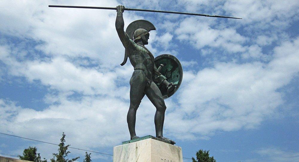 Statue de Léonidas aux Thermopyles