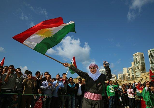 Syrian Kurd Nazdan who fled her home in Qamishli