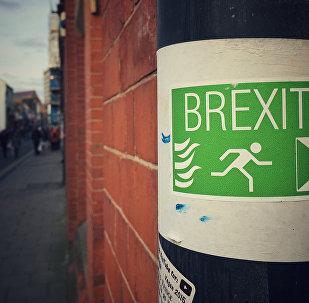 Un panneau en faveur du brexit