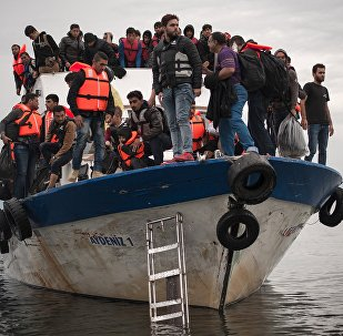 Des migrants, photo d'illustration
