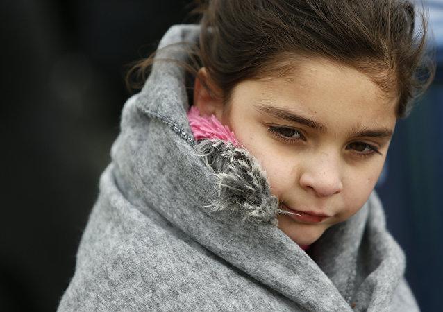 Une jeune réfugiée