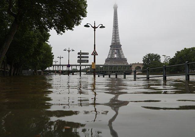 Une inondation à Paris en 2016