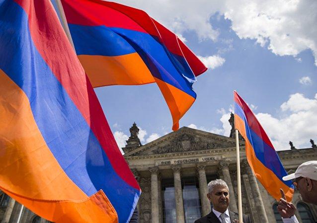 des activistes arméniens à Berlin (image d'illustration)