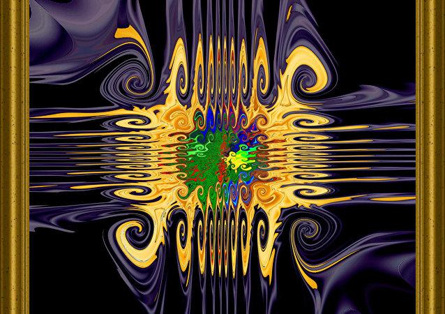 Micropuce.  Image abstraite