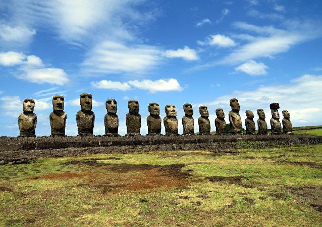 Les statues de l'île de Pâques menacées par le réchauffement