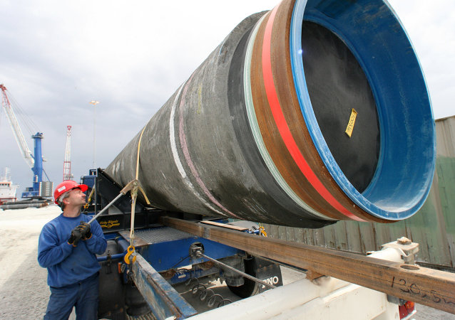 La construction du gazoduc Nord Stream