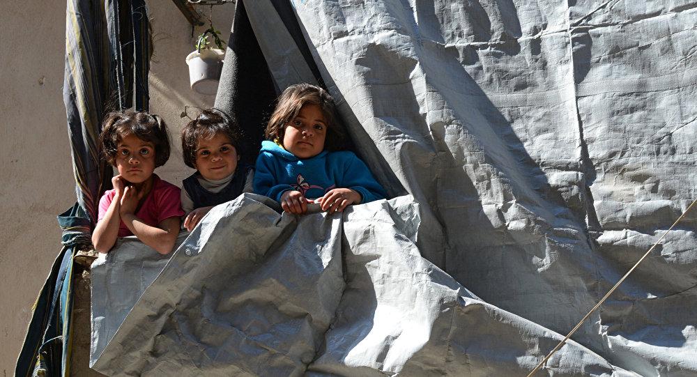 Enfants d'Alep. Archive photo