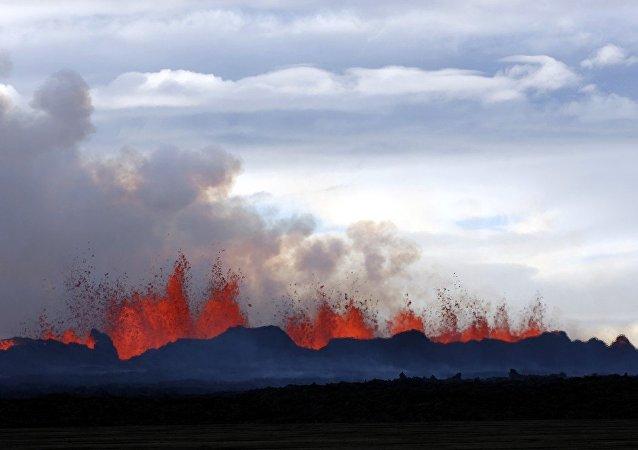 Un volcan en Islande