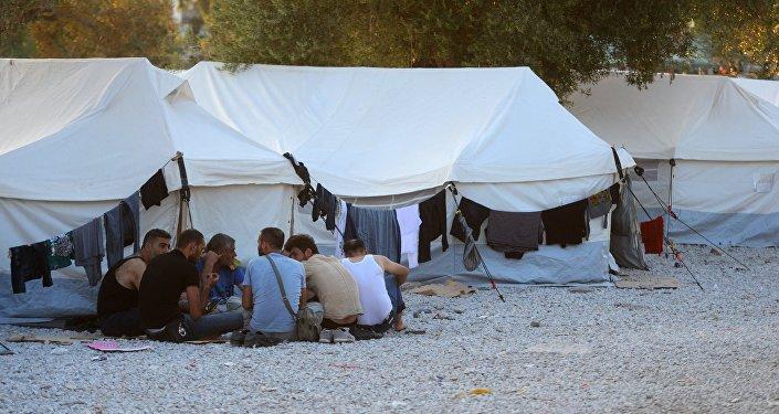Réfugiés dans l'île de Lesbos
