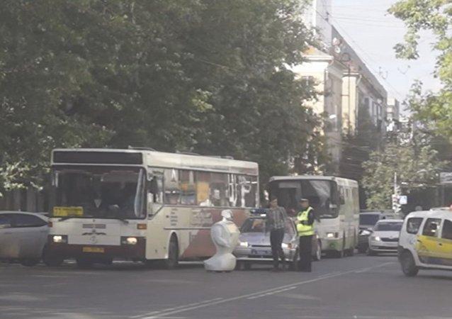 Un robot russe s'échappe et bloque la circulation