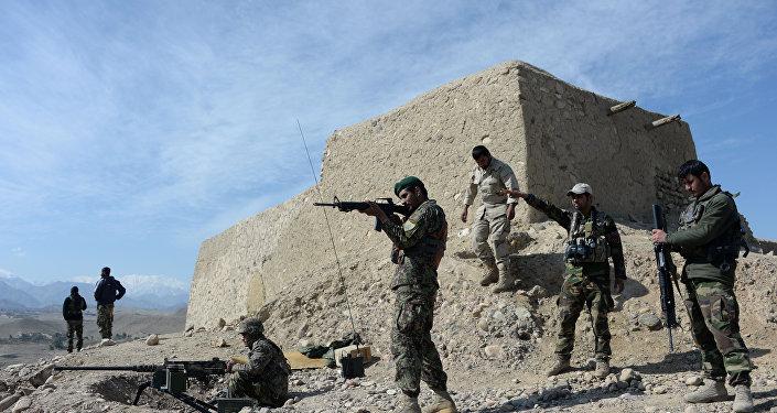 Les forces de sécurité afghanes lors d'une opération contre Daech